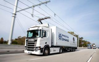Parteneriat Continental - Siemens pentru autostrăzi electrificate și camioane echipate cu pantografe