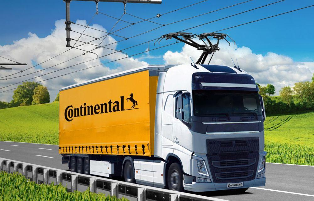Parteneriat Continental - Siemens pentru autostrăzi electrificate și camioane echipate cu pantografe - Poza 2