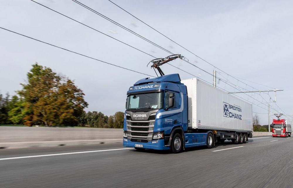 Parteneriat Continental - Siemens pentru autostrăzi electrificate și camioane echipate cu pantografe - Poza 3