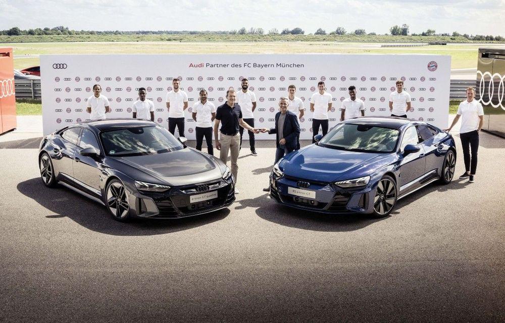 Audi livrează exemplare e-tron GT către fotbaliștii de la Bayern Munchen - Poza 1