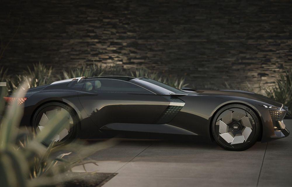Audi prezintă conceptul electric Skysphere: 630 de cai putere și autonomie de 500 km - Poza 12
