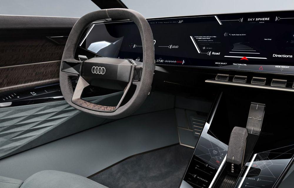 Audi prezintă conceptul electric Skysphere: 630 de cai putere și autonomie de 500 km - Poza 28