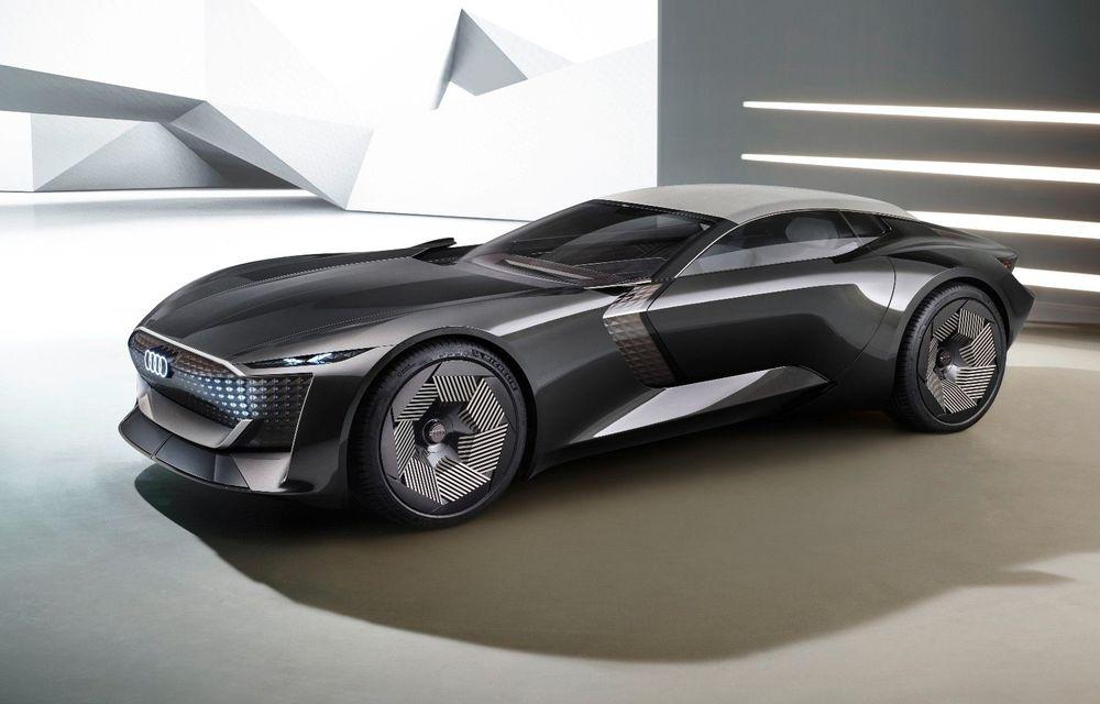 Audi prezintă conceptul electric Skysphere: 630 de cai putere și autonomie de 500 km - Poza 1