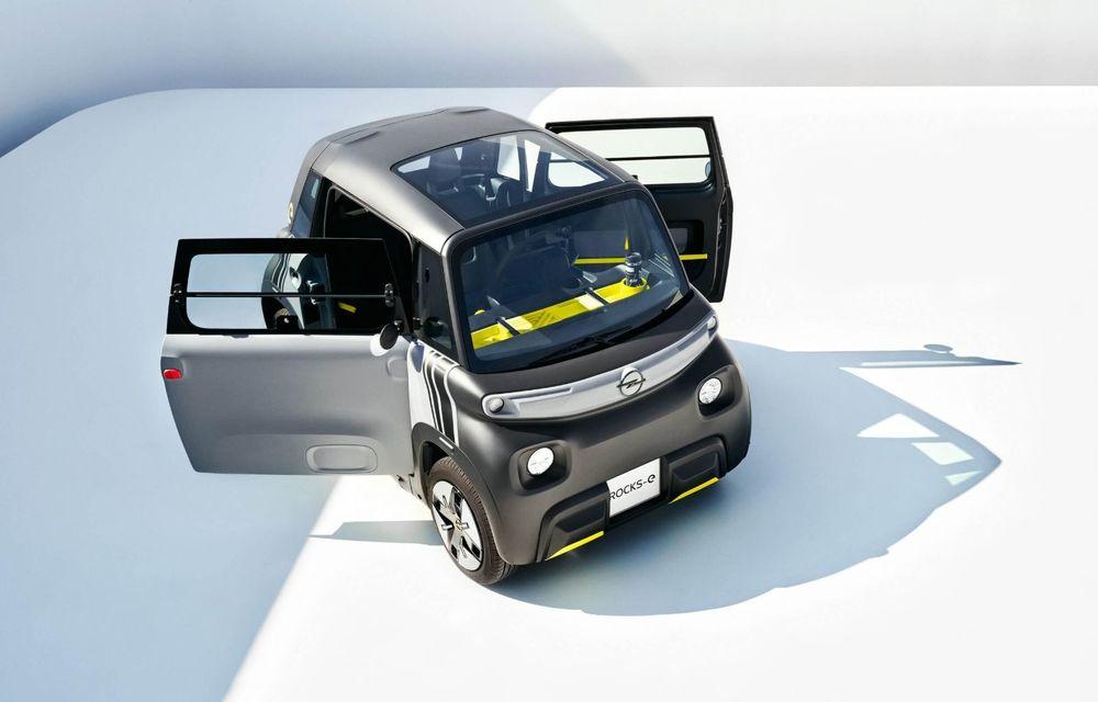 Noul cvadriciclu electric Opel Rocks-e: geamănul lui Citroen Ami are 8 CP și 75 de kilometri autonomie - Poza 5