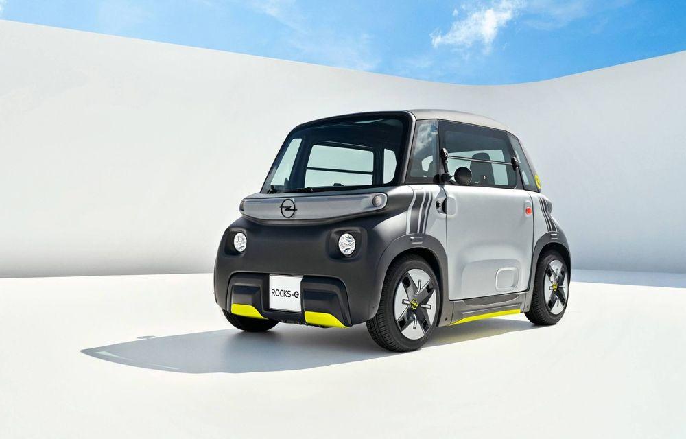 Noul cvadriciclu electric Opel Rocks-e: geamănul lui Citroen Ami are 8 CP și 75 de kilometri autonomie - Poza 1
