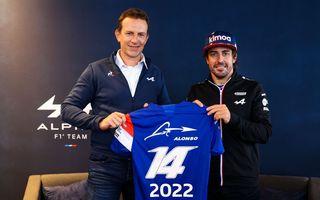 Fernando Alonso va concura pentru Alpine F1 și în 2022