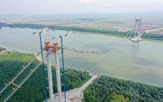 """Ministrul Transporturilor: """"Podul peste Dunăre, de la Brăila, se va deschide la final de 2022"""""""
