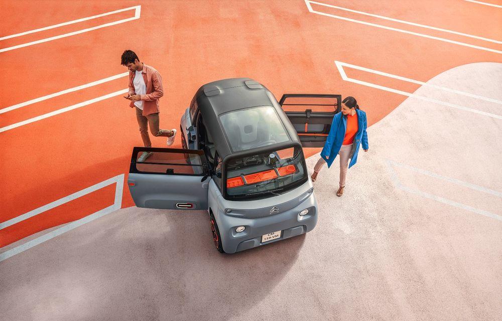 Citroën Ami: soluție de mobilitate pentru România, de la 5000 de euro. Disponibil din 2022 - Poza 4