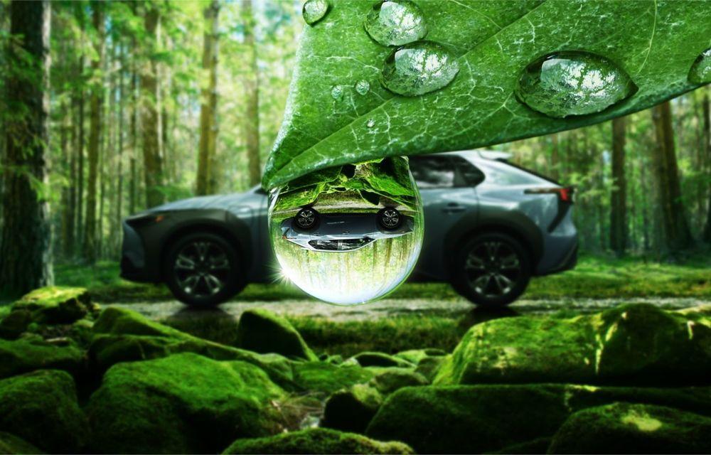 Imagini teaser cu viitorul Subaru Solterra, primul model electric al companiei - Poza 1