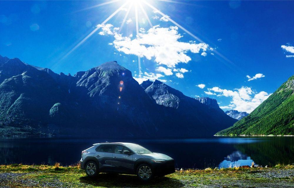 Imagini teaser cu viitorul Subaru Solterra, primul model electric al companiei - Poza 2