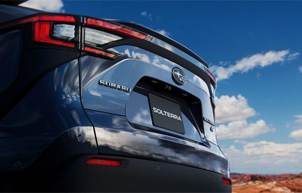 Imagini teaser cu viitorul Subaru Solterra, primul model electric al companiei - Poza 6