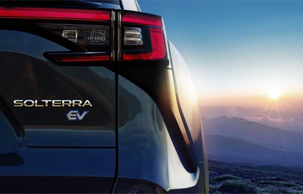 Imagini teaser cu viitorul Subaru Solterra, primul model electric al companiei - Poza 7