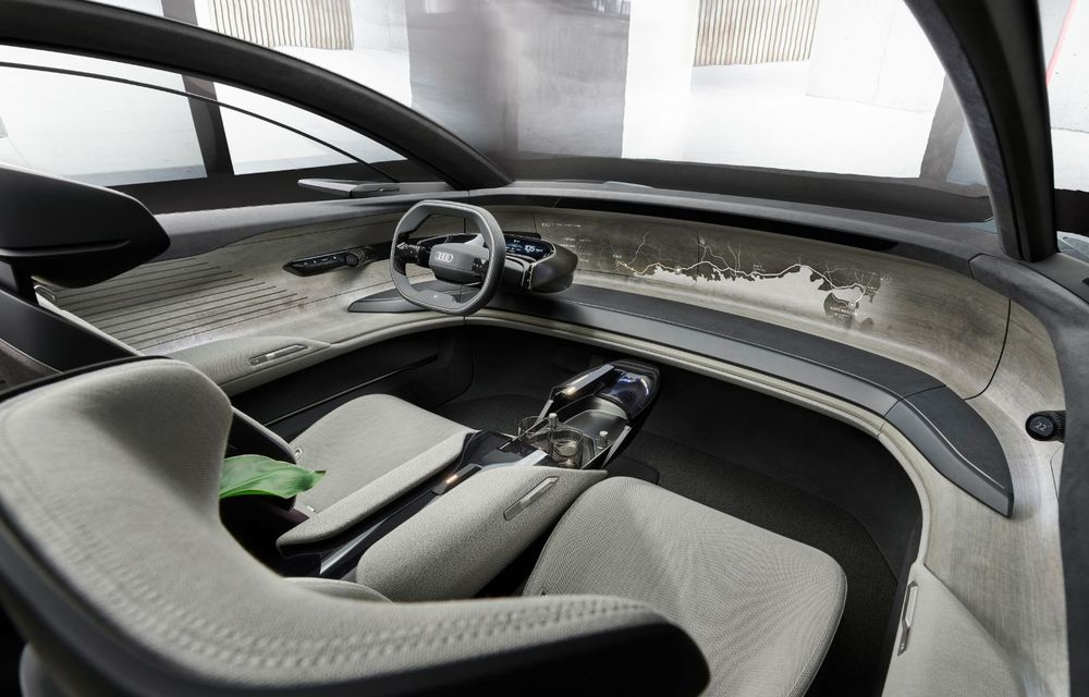 Audi Grandsphere Concept: autonomie de peste 750 de kilometri și încărcare ultrarapidă la 270 kW - Poza 6