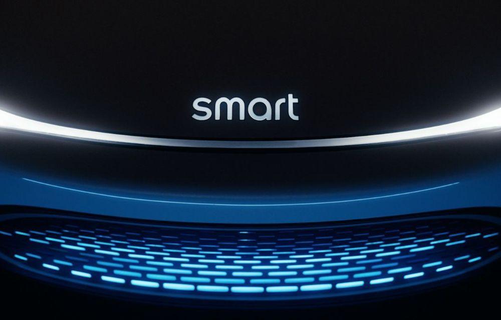 Primul teaser cu viitorul concept electric Smart: prezentare la Munchen - Poza 1