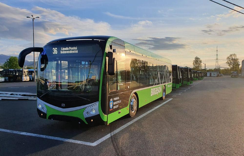 Noile autobuze electrice din Brașov au fost echipate cu un sistem care evită accidentarea pietonilor și bicicliștilor - Poza 1