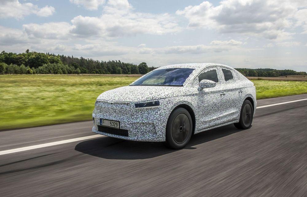 Skoda pregătește o versiune coupe pentru SUV-ul electric Enyaq: autonomie de peste 535 de kilometri - Poza 2