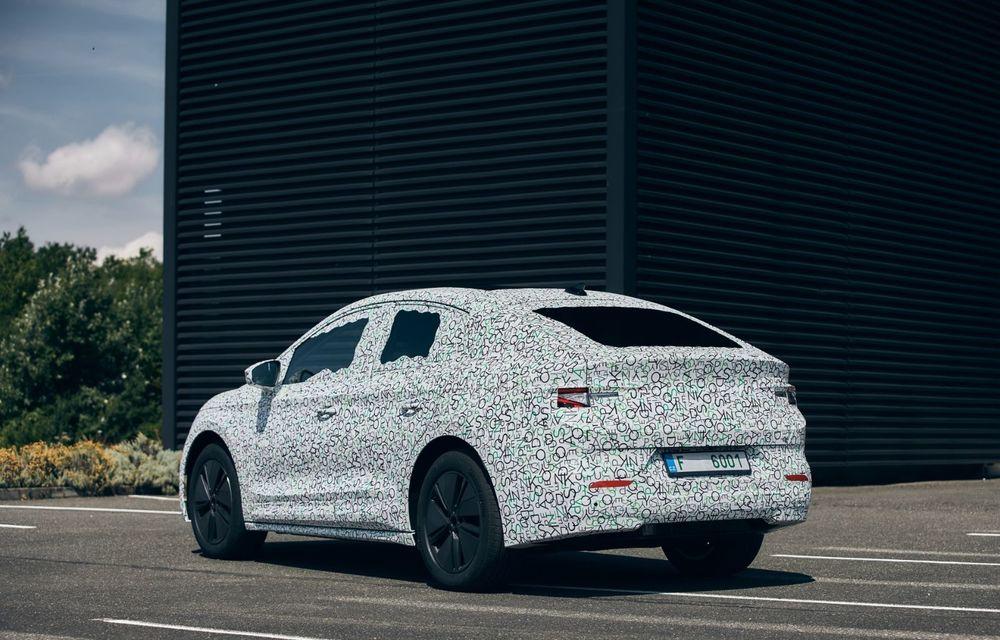 Skoda pregătește o versiune coupe pentru SUV-ul electric Enyaq: autonomie de peste 535 de kilometri - Poza 4