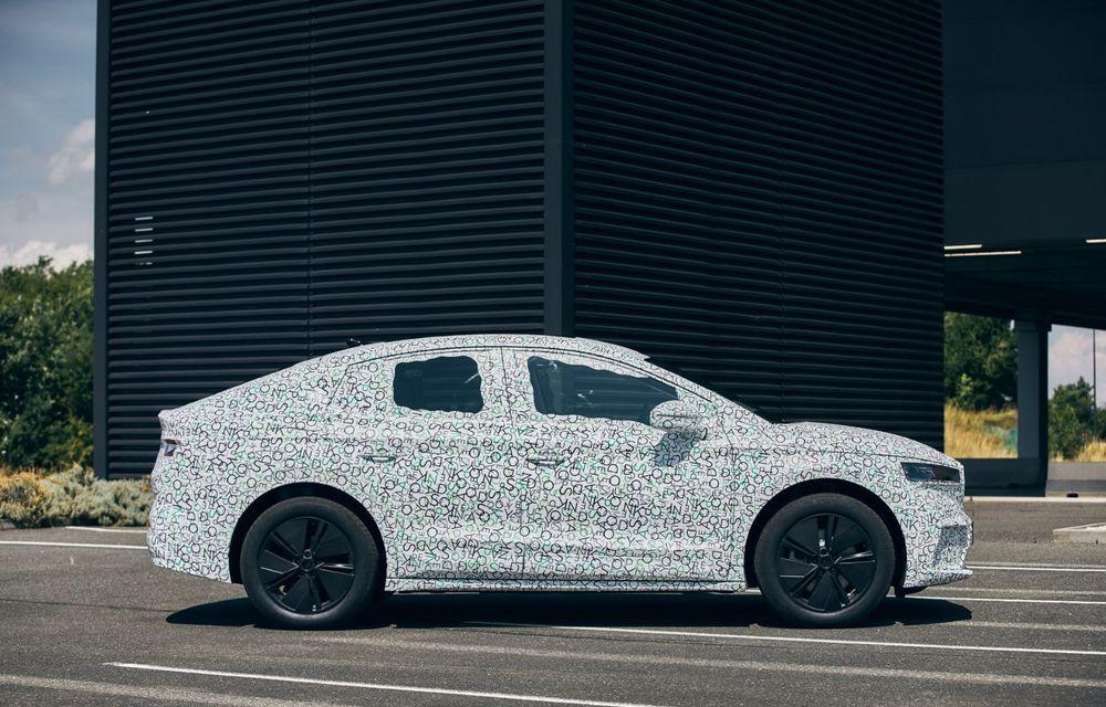 Skoda pregătește o versiune coupe pentru SUV-ul electric Enyaq: autonomie de peste 535 de kilometri - Poza 5