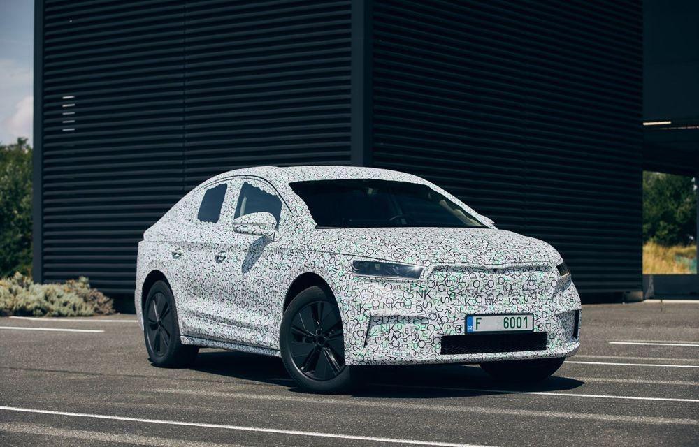 Skoda pregătește o versiune coupe pentru SUV-ul electric Enyaq: autonomie de peste 535 de kilometri - Poza 8
