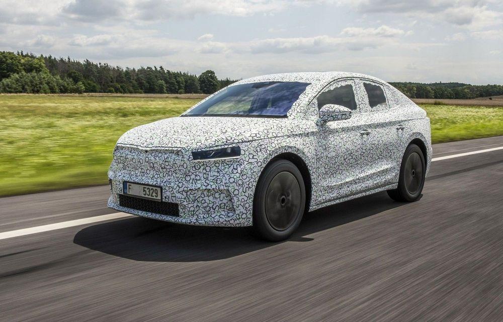 Skoda pregătește o versiune coupe pentru SUV-ul electric Enyaq: autonomie de peste 535 de kilometri - Poza 1