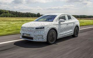 Skoda pregătește o versiune coupe pentru SUV-ul electric Enyaq: autonomie de peste 535 de kilometri