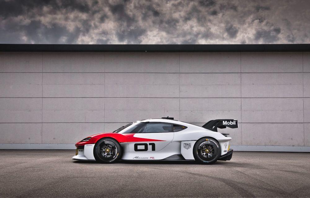 Conceptul electric Porsche Mission R: până la 1.088 CP și 0-100 km/h în 2.5 secunde - Poza 3