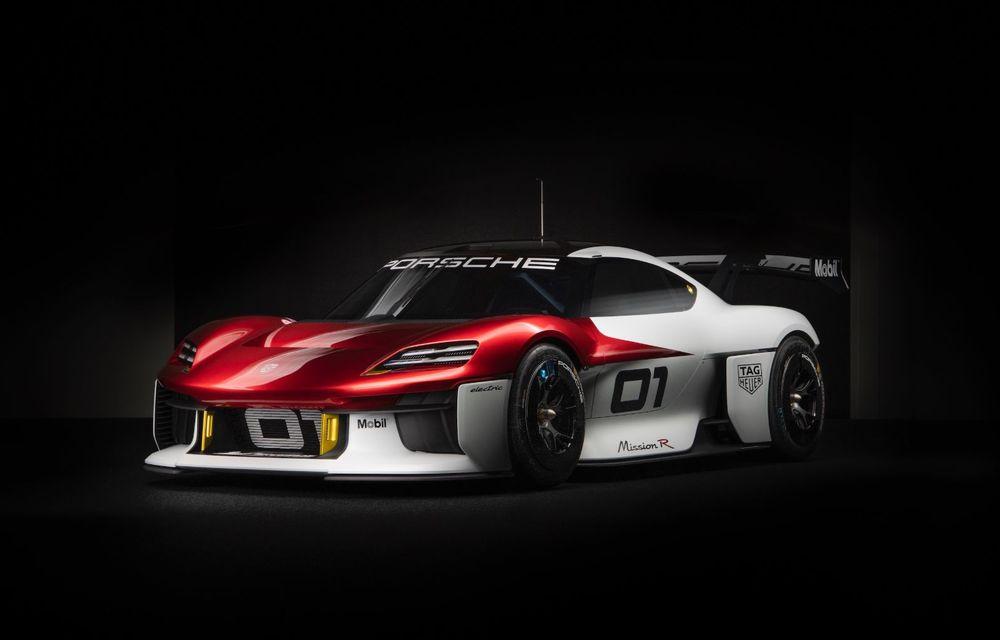 Conceptul electric Porsche Mission R: până la 1.088 CP și 0-100 km/h în 2.5 secunde - Poza 9