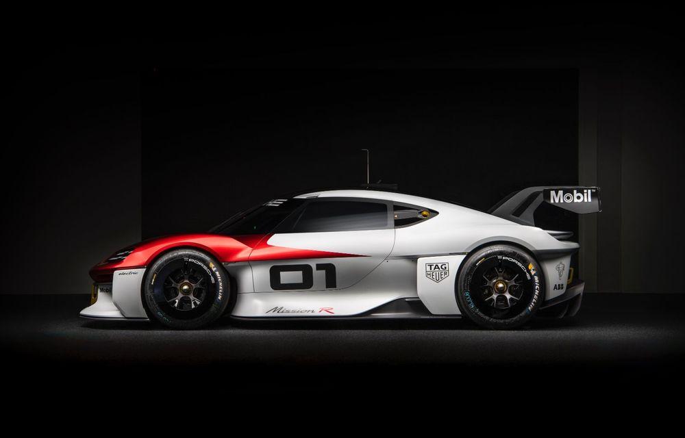 Conceptul electric Porsche Mission R: până la 1.088 CP și 0-100 km/h în 2.5 secunde - Poza 10