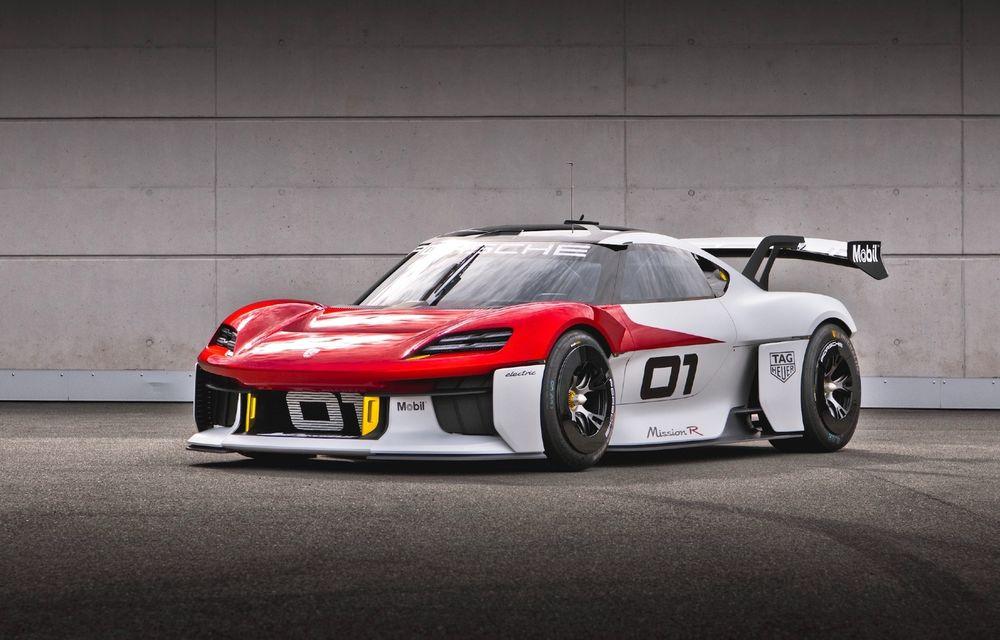 Conceptul electric Porsche Mission R: până la 1.088 CP și 0-100 km/h în 2.5 secunde - Poza 1