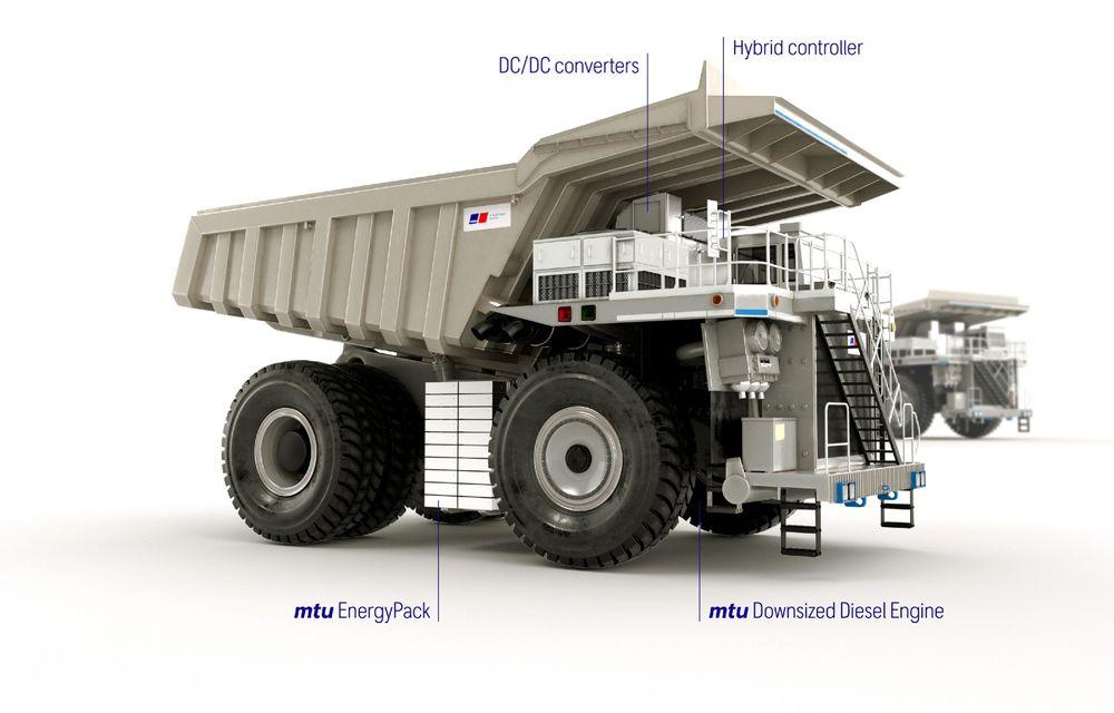 Rolls-Royce testează noi teritorii: a prezentat conceptul unui camion hibrid pentru zonele miniere - Poza 2