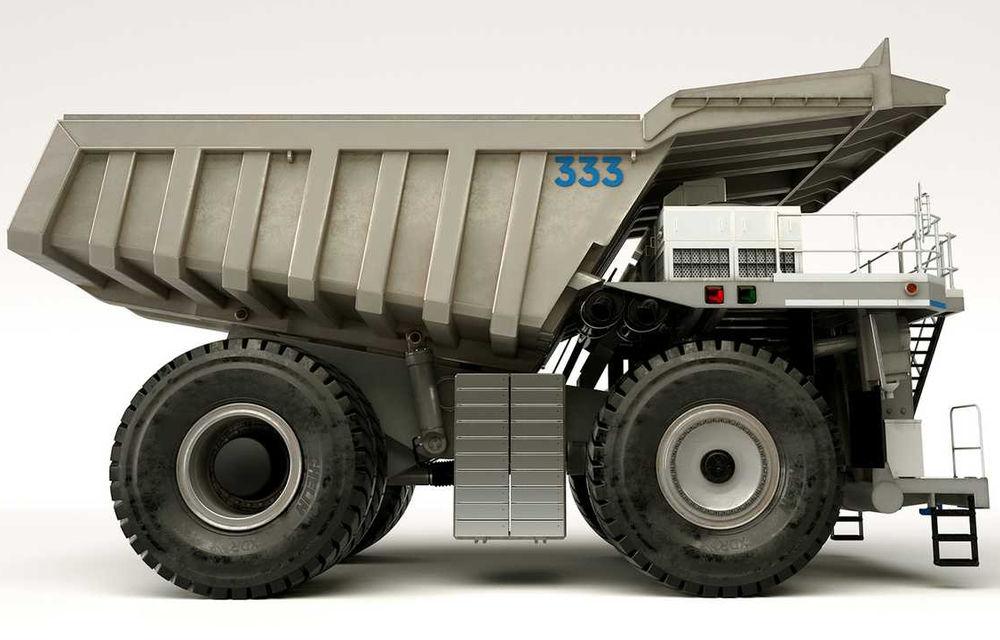 Rolls-Royce testează noi teritorii: a prezentat conceptul unui camion hibrid pentru zonele miniere - Poza 1