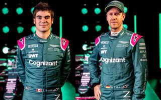Sebastian Vettel și Lance Stroll rămân la Aston Martin și în 2022