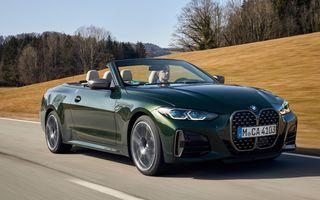 Noutăți în gama BMW: motorizări noi pentru Seria 4 Cabrio și ediție specială pentru i3 și i3S