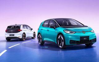 Volkswagen ID.3, cel mai vândut model electric din Europa, în luna august. Tesla Model 3, pe locul secund