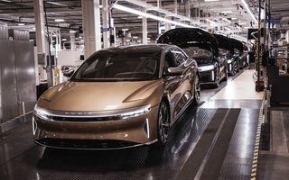 Lucid Air, modelul electric cu 1.126 CP și până la 837 km autonomie, a intrat în producție