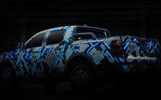 Noi imagini teaser cu viitorul Ford Ranger. Debut comercial în 2022