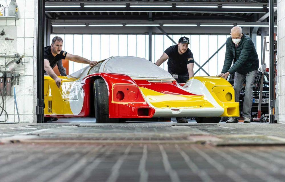 Porsche a restaurat un 962 C care a concurat ultima oară în 1987 - Poza 13