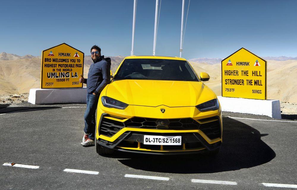 Lamborghini Urus ajunge pe cea mai înaltă șosea din lume: 5.880 de metri altitudine - Poza 2