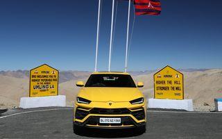 Lamborghini Urus ajunge pe cea mai înaltă șosea din lume: 5.880 de metri altitudine