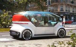 Volkswagen OnePod este conceptul unui vehicul autonom, oferit spre închiriere în viitor