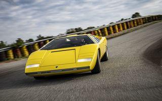 Lamborghini a publicat noi imagini cu exemplarul unicat Countach LP 500. Cumpărătorul misterios l-a testat pe circuit