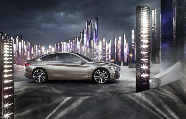 BMW Compact Sedan Concept ne arată viiitorul rival al lui Mercedes-Benz CLA și Audi A3 Sedan - Poza 2