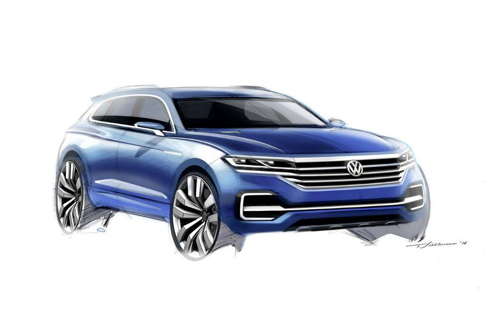 Burduşit cu tehnologie: Volkswagen T-Prime Concept GTE anticipează designului viitorului Touareg - Poza 2