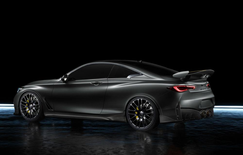 Infiniti Q60 Project Black S ar putea primi o versiune de serie: sistemul hibrid de propulsie asemănător cu cel din Formula 1 dezvoltă 568 CP - Poza 2