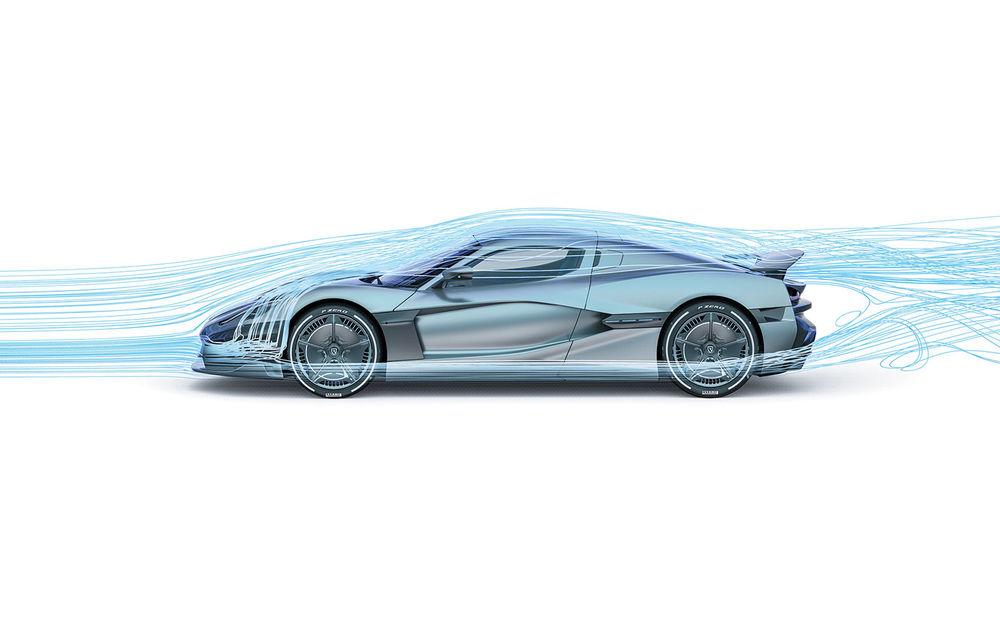 Hipercar-ul croat Rimac C_Two rescrie regulile industriei: patru motoare electrice, 1914 CP, 2300 Nm și 0-100 km/h în 1.85 secunde - Poza 2