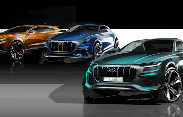 Audi introduce două motoare noi pe Q8: 3.0 litri diesel cu 231 CP și V6 benzină cu 340 CP - Poza 2