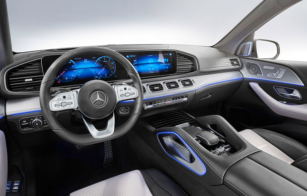 Noua generație Mercedes-Benz GLE, poze și detalii oficiale: design nou, motorizare mild-hybrid și o suspensie capabilă să recupereze energia în momentul amortizării - Poza 2