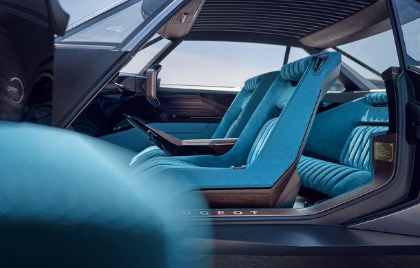 Peugeot e-Legend Concept: design retro, motor electric de 460 de cai putere și autonomie de 600 de kilometri - Poza 2