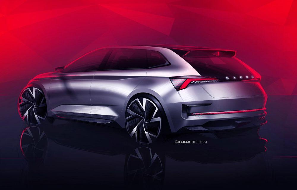 Imagini oficiale cu noul Skoda Vision RS Concept: 7.1 secunde pentru accelerația 0-100 km/h și un sistem hibrid de 245 CP - Poza 2