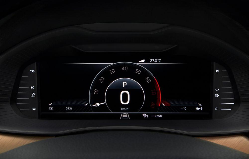 Skoda Scala, poze și informații oficiale: motoare de până la 150 CP, instrumentar digital de bord și sisteme moderne de siguranță pentru noul hatchback compact - Poza 2